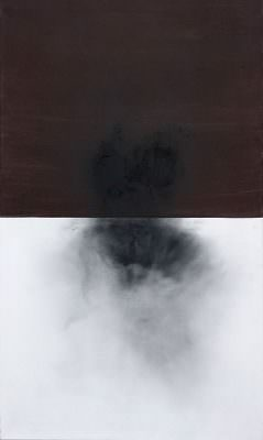 Under the Level, 2014, Charcoal, Acrylic, Canvas, four pieces, á 130 x 80 cm