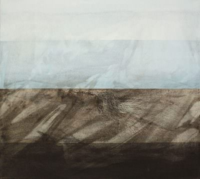 Unter dem Horizont, 2015, Charcoal, Acrylic, Canvas, 60 x 66 cm