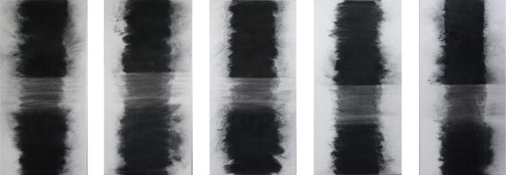 Tiden, 2014, Charcoal, Water (Sveti Jakov), Canvas, á 80 x 40 cm