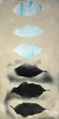 Treiben 2, 2016, Mixed Media on Paper, 60 x 30 cm