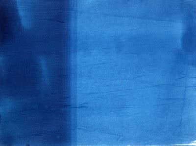 Verlauf 1 2015, Cyanotypie on Paper, 23 x 30,5 cm
