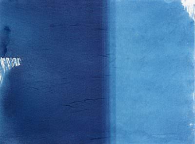 Verlauf 2 2015, Cyanotypie on Paper, 23 x 30,5 cm