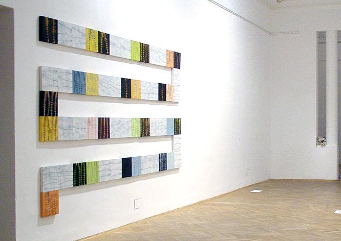 """Domino (28-teilig á 30 x 60 cm) Acryl/Leinwand, """"zeitraumzeit"""""""