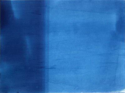 VERLAUF moment IV, 23 x 30,5 cm, Cyanotypie auf Papier
