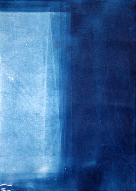 LICHTEINFALL 42 x 30 cm Cyanotypie auf Papier