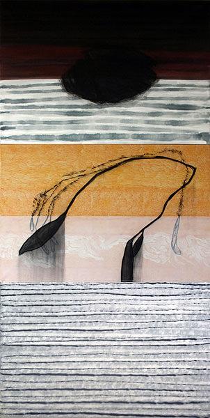 Derrelicto, Kohle und Acryl auf Leinwand, 300 x 150 cm