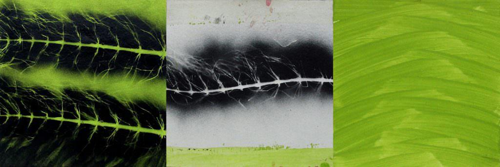 Viale Contemporaneo, Triptychon, Acryl, Papier, 40 x 120 cm