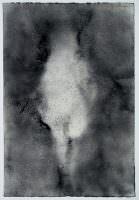 Begegnung 2006, Kohle/Papier, 40 x 25 cm