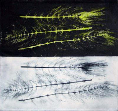 Extempora, Kohle, Acryl, Leinwand, 90 x 100 cm