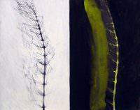 Parallel II, 2007, Kohle, Acryl, Papier, 70 x 85 cm