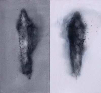 Gleichung 2005, Acryl, Kohle, Leinwand, 60 x 70 cm