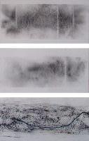 Flußlauf 1, Kohle, acryl auf Papier, á 30 x 60 cm