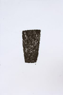 Gefäß, Wachskreide, Bütte, á 57 x 38 cm