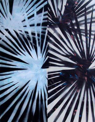 Gegenlicht Opatja, Kohle, Acryl auf Leinwand, 70 x 60 cm