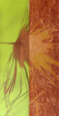 Gegenlicht, Kohle, Acryl auf Leinwand, 60 x 30 cm