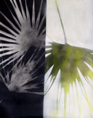Gegenlicht, Kohle, Acryl auf Leinwand, 62 x 49 cm