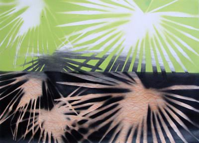 Gegenlicht, Kohle, Acryl auf Leinwand, 70 x 100 cm