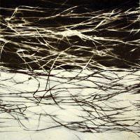 Saisongras, Acryl, Papier, 40 x 40 cm