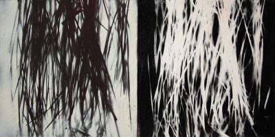 zeit:zeit, Acryl, Papier, 40 x 80 cm