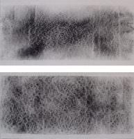Raum : Raum, Kohle auf Papier, á 30 x 30 cm