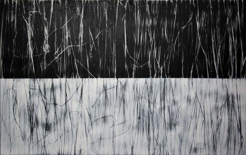 Saison, Mischtechnik auf Leinwand, 100 x 160 cm