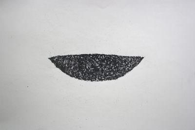 Schale (Serie mit 19 Teilen), 2010, Wachskreide, Büttenpapier, 50 x 66 cm