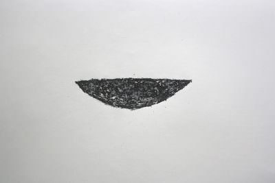 Schale, Wachskreide, Büttenpapier, 50 x 66 cm