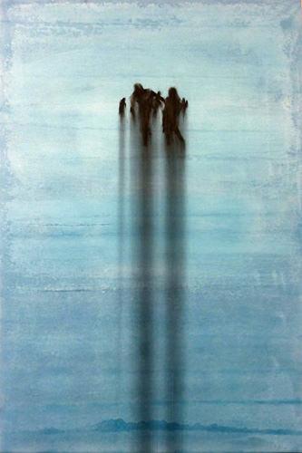 Sog 2009, Kohle, Acryl, Leinwand, 150 x 100cm