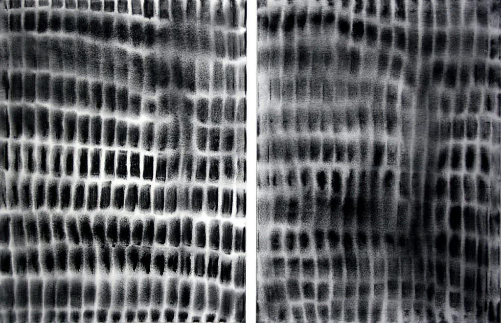 Verschränkung, zweiteilig, 100 x 150 cm