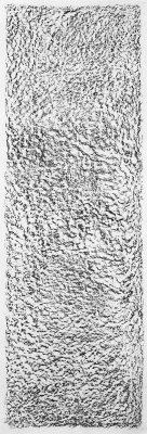 Wachskreide auf Baumwollgewebe, 135 x 40cm