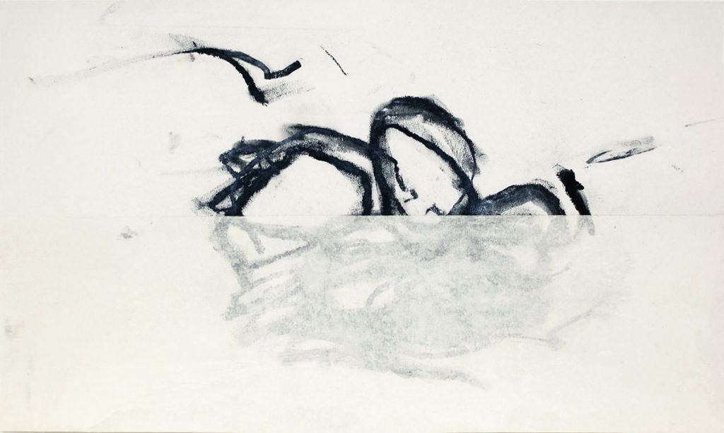 Uplift, Kohle, Acryl, Papier, 53 x 88 cm