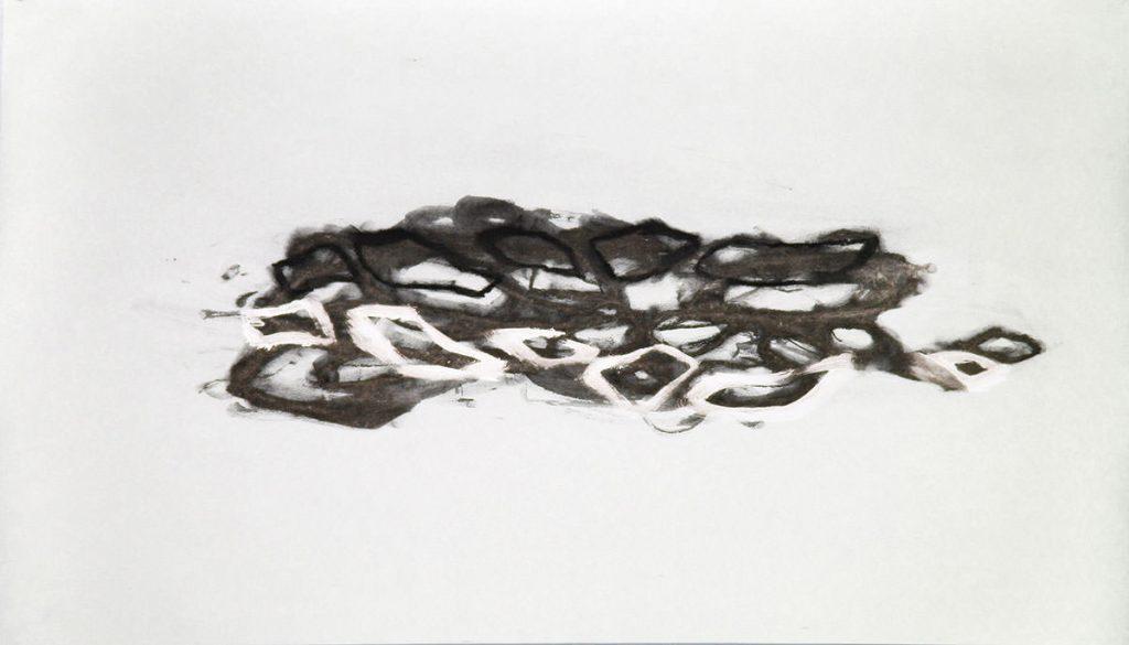 Uplift, Kohle, Acryl, Papier, 53 x 95 cm